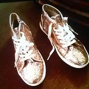 Steve Madden Glitter Sneakers 5 BIG Girl